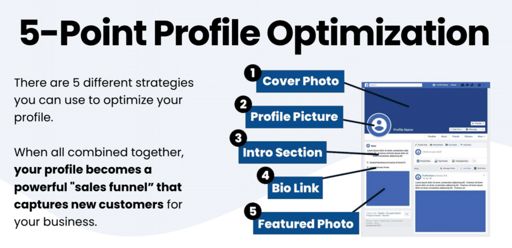 facebook profile funnel